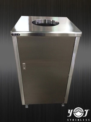 Stainless steel Trash can TJ-140712 -YJ stainless