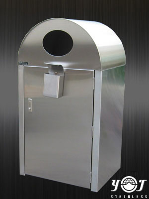 street trash can TJ-081113-YJ stainless