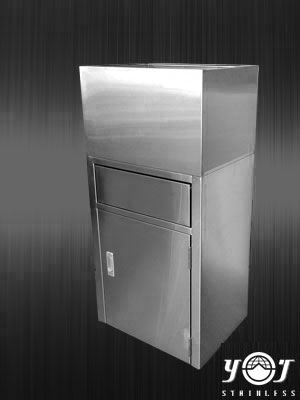Stainless steel trash can TJ-131165