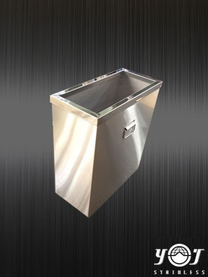 stainless steel trash can TJ-150753 -YJ stainless
