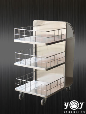stainless trolley TJ-150702  - YJ stainless