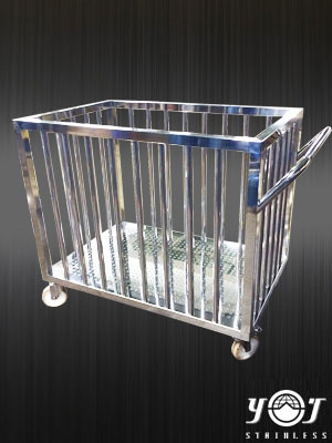 Stainless steel carts clothing TJ-140915 YJ stainless