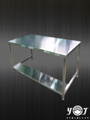 Stainless steel double work tables