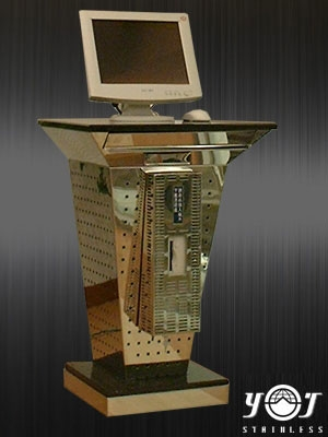 Stainless Steel Computer Desk TJ-015-10 -YJ stainless