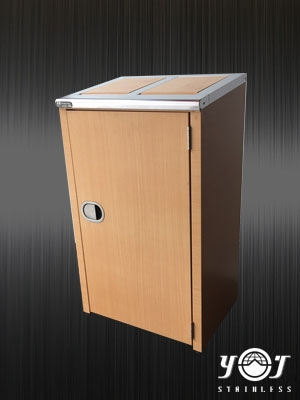 Wood Style Trash Can Series-TTJ-11-YJ stainless