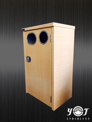 Wood Style Trash Can Series-TTJ-12-YJ stainless