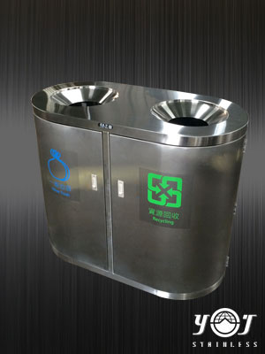 Stainless steel trash can-TJ-120328-YJ stainless