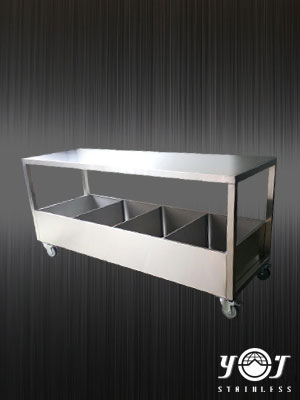 stainless trolley TJ-151150 - YJ stainless