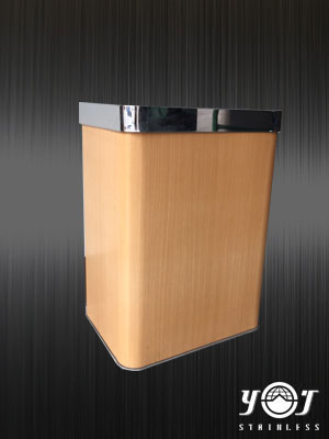 Wood Style Trash Can Series-TTJ-20-YJ stainless