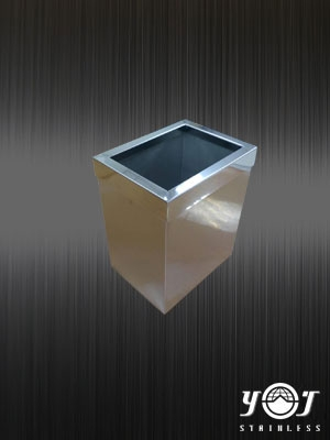Desktop stainless steel trash can -TJ-160528 -YJ stainless