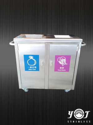 Stainless steel recycling carts-TJ-160553 -YJ stainless