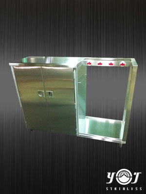 Zhiwu stainless steel with sweeping cabinet -TJ-131002--YJ stainless