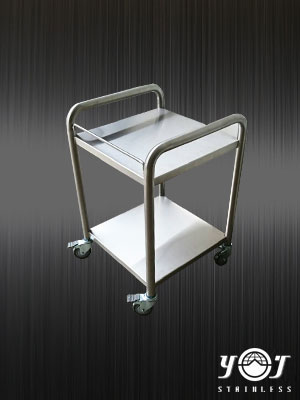 Stainless steel two-tier cart - TJ-161183 - YJ stainless