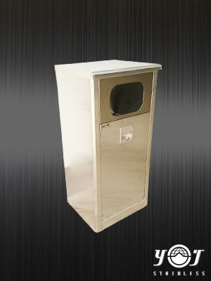 Stainless steel trash can - TJ-110605 -YJ stainless