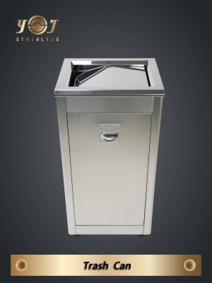 Stainless-steel trash can