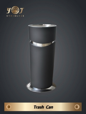 Single-Type Trash Can Series-YJ-198B-YJ stainless