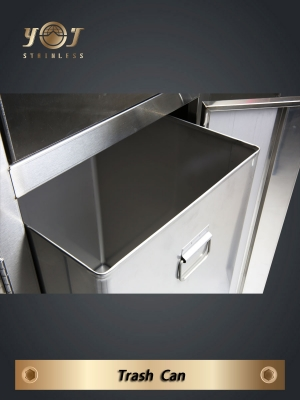 Three Category Recycling Bin-YJ-316S-YJ stainless