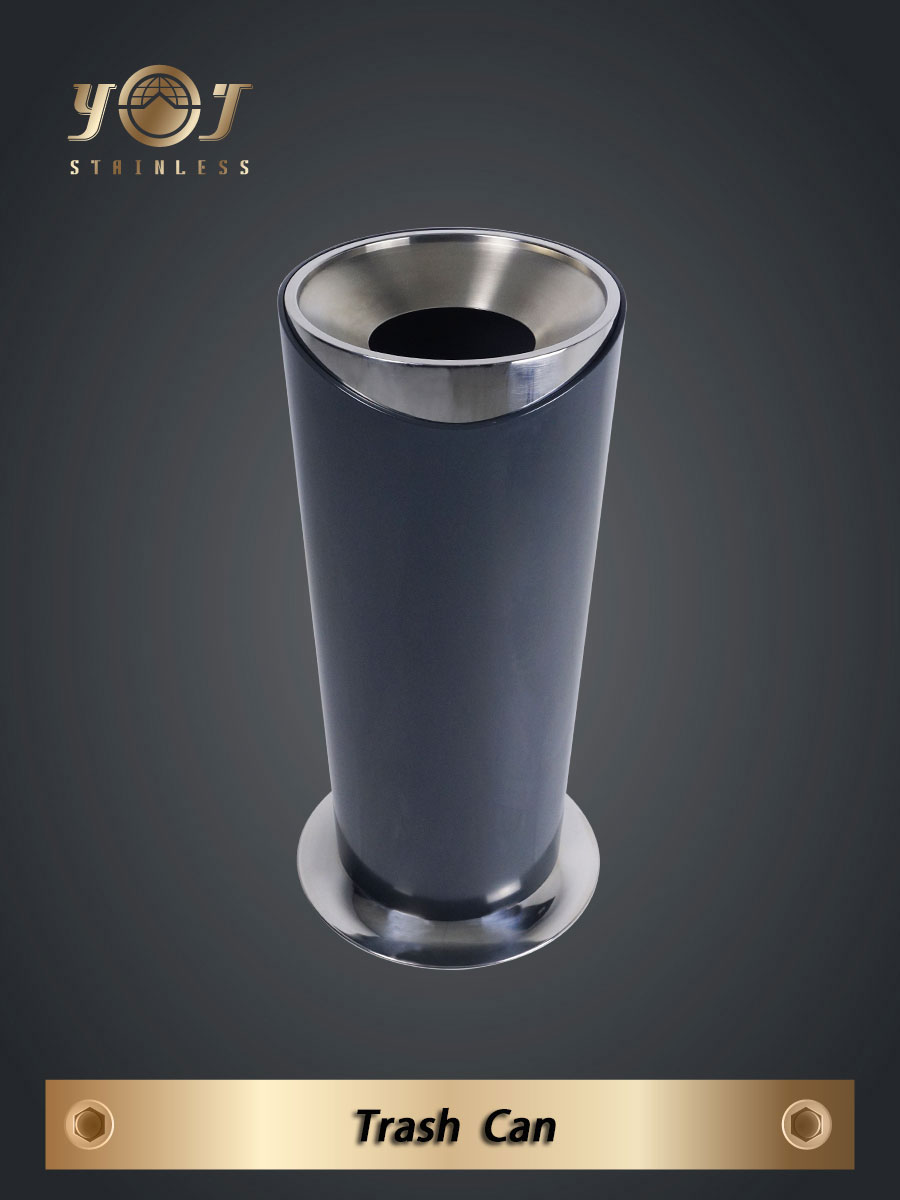 Single-Type Trash Can Series-YJ-81B-YJ stainless