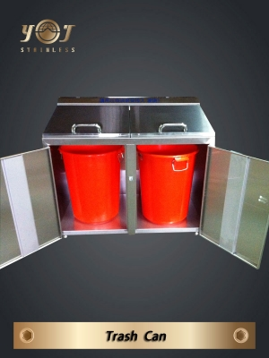 Two Category Recycling Bin-YJ-306S-YJ stainless