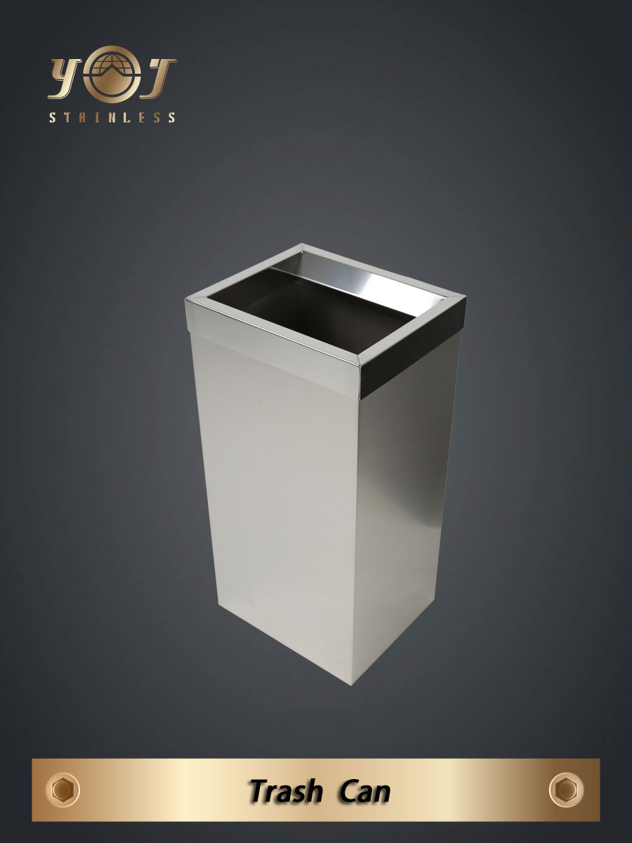 small trash can -YJ710B-YJ stainless