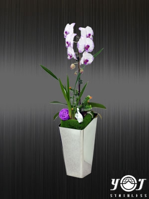 Stainless Steel Flower Vase-YJ-F101C-YJ stainless