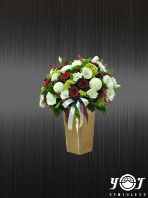 Stainless Steel Flower Vase-YJ-F102C-YJ stainless