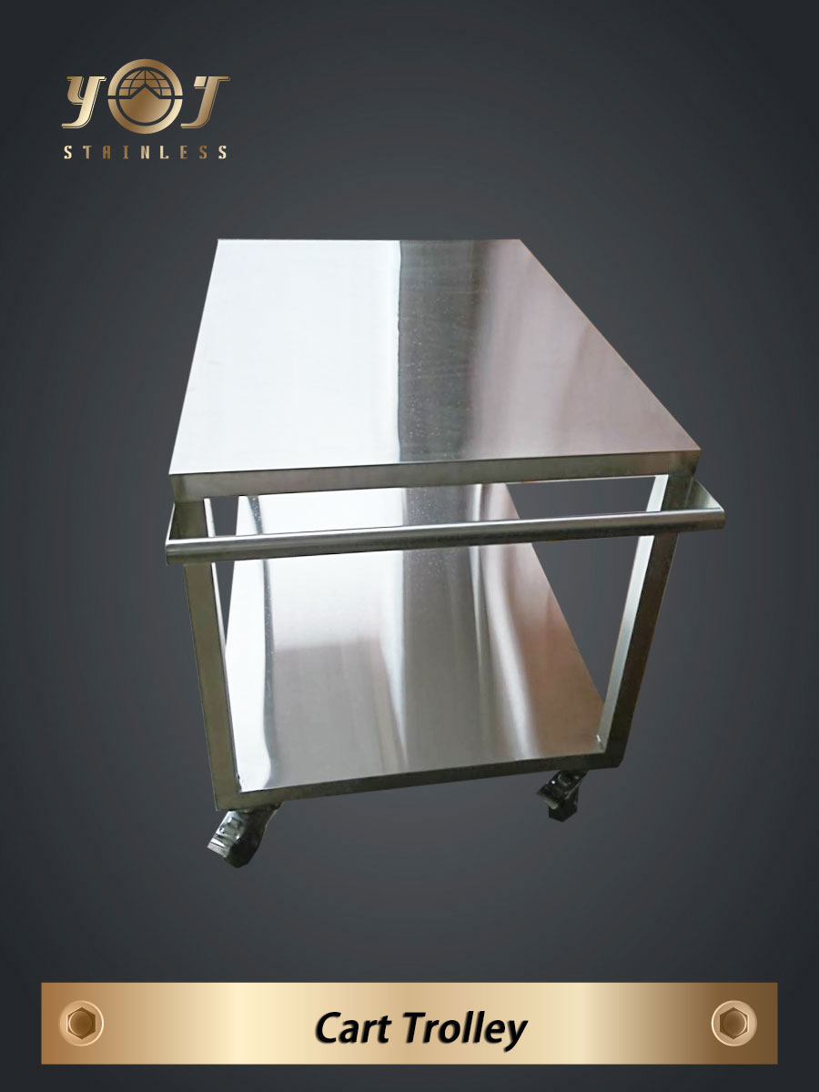 Stainless Steel Trolley - TJ-170961-  YJ stainless