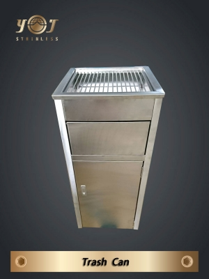 Stainless steel trash can - TJ-100521 - YJ stainless