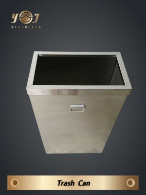 Stainless steel trash can - TJ-170406 - YJ stainless