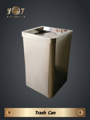 Stainless steel trash can - TJ-170411 - YJ stainless