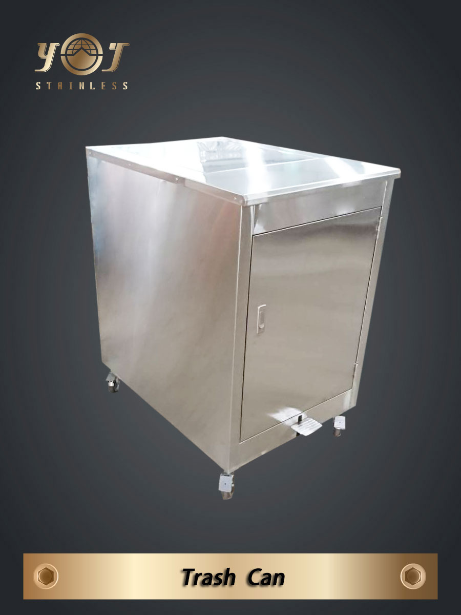 Stainless steel trash can - TJ-171065- YJ stainless
