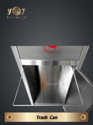 Stainless steel Single-Type Trash Can SeriesYJ-190C YJ stainless