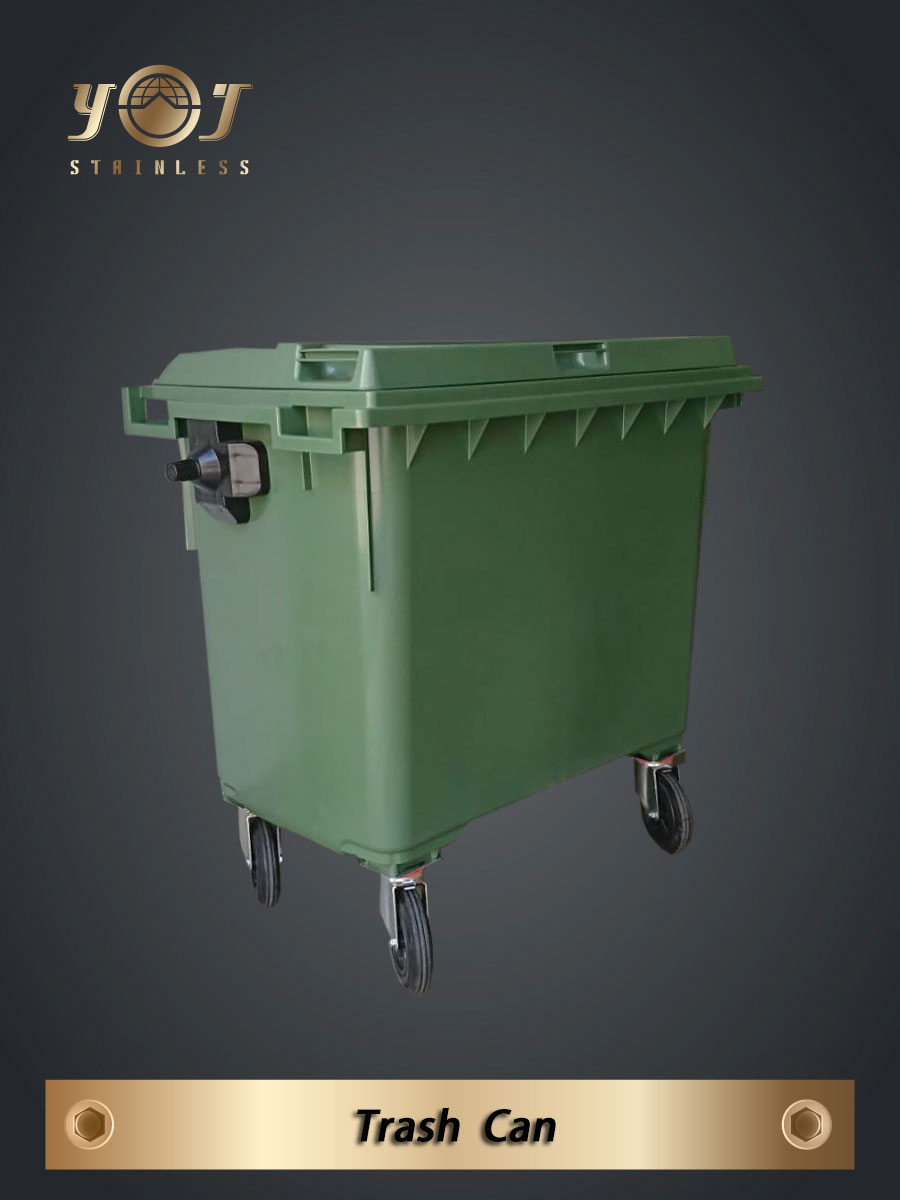 Large refuse containers  660、1100 litres-YJ stainless
