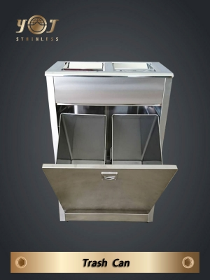 Two Category Recycling Bin-YJ-207S-YJ stainless