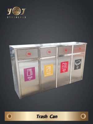 Four Category Recycling Bin